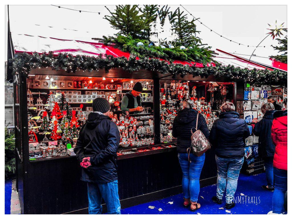 Gift stall at Edinburgh Christmas Market