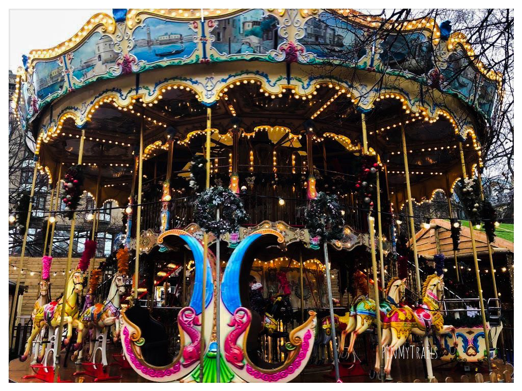 Merry-go-round at Edinburgh Christmas Market