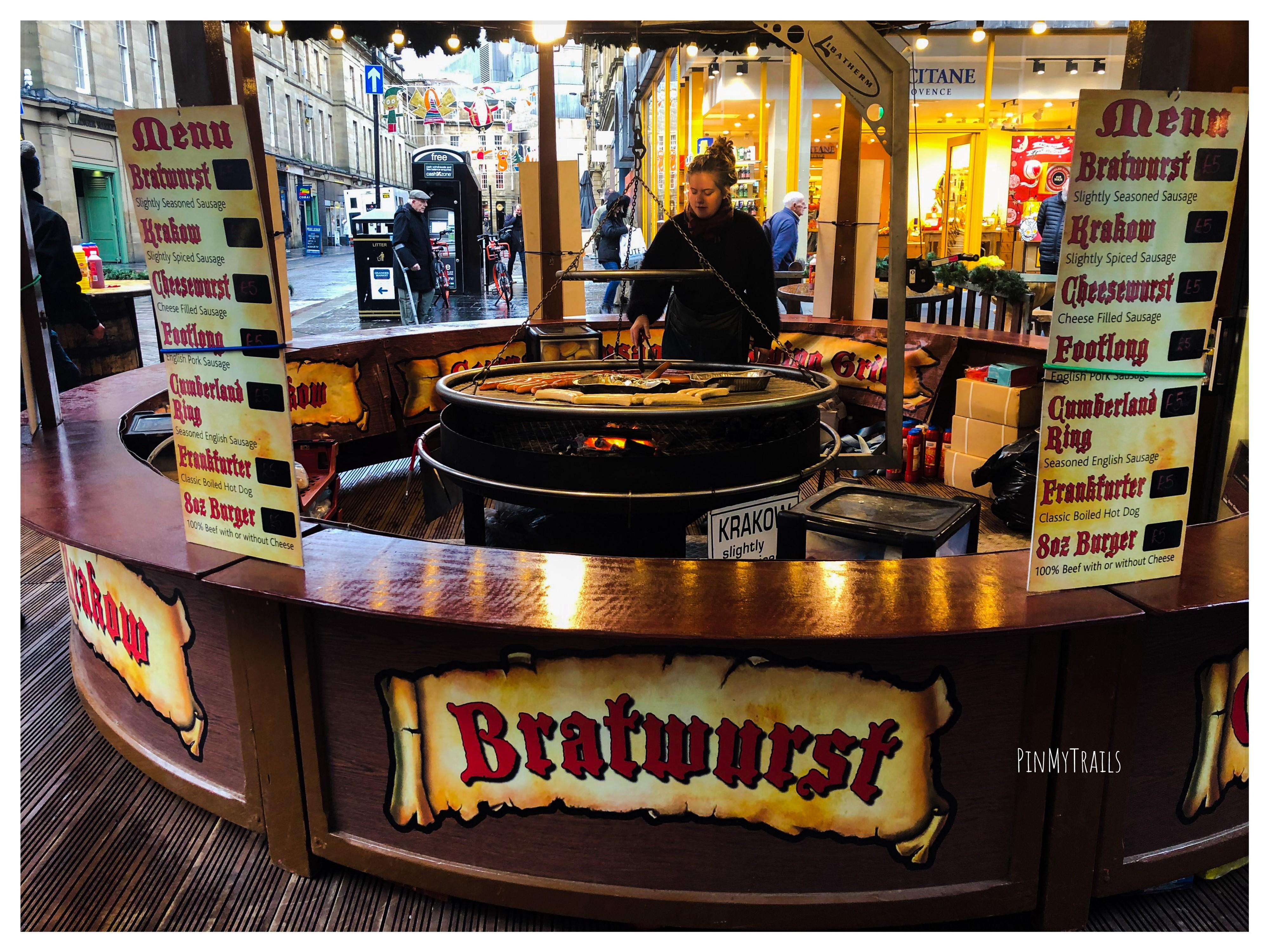 Stall selling German food